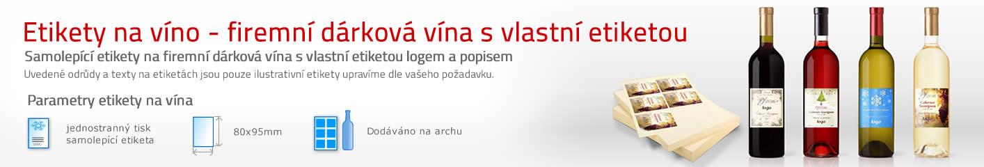 Etikety na víno samolepící - firemní vína